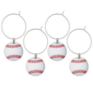 Baseball Theme Adult Party Ideas Wine Charm