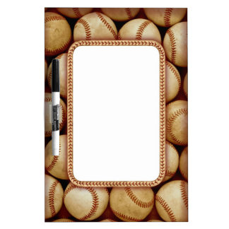 Baseball theme dry erase board