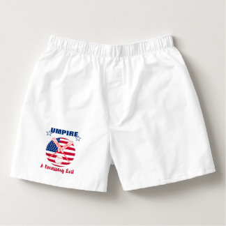 Baseball Umpire Funny Sports Quote Text Graphic Boxers