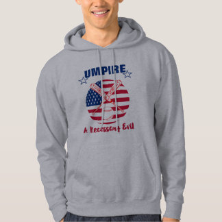 Baseball Umpire Funny Sports Quote Text Graphic Hoodie