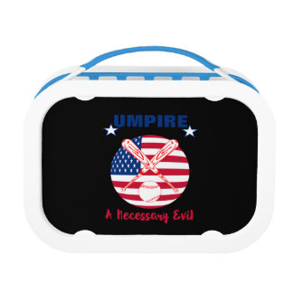 Baseball Umpire Funny Sports Quote Text Graphic Lunch Box