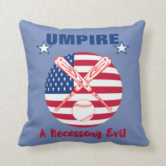 Baseball Umpire Funny Sports Quote Text Graphic Throw Pillow