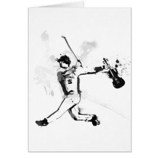Baseball Violinist Card