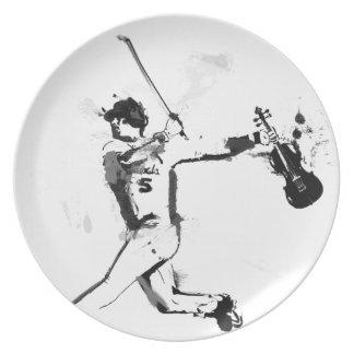 Baseball Violinist Dinner Plates