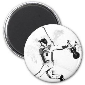 Baseball Violinist Magnet
