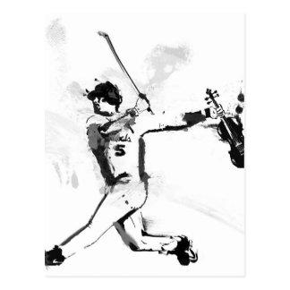 Baseball Violinist Postcard