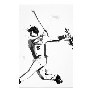 Baseball Violinist Stationery