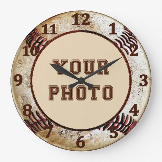Baseball Wall CLOCKS with YOUR PHOTO