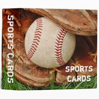 "Baseball with an Old Mitt 2"" Sports Cards Binder"