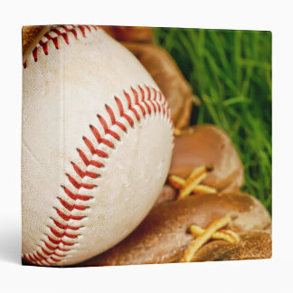 """Baseball with Mitt 1.5"""" Photo Album 3 Ring Binders"""