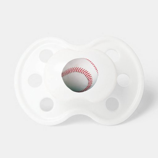 Baseball with Red Stitching Pacifiers