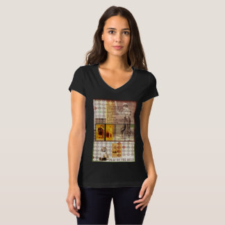 """""""Baseball"""" Women's Bella Jersey V-Neck T-Shirt"""