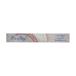 Baseball Wrap Around Label