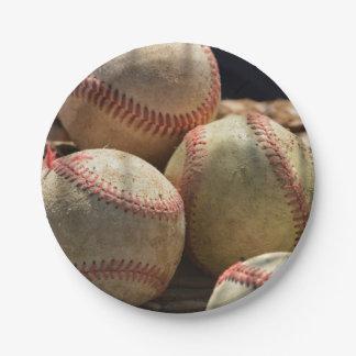 Baseballs 7 Inch Paper Plate