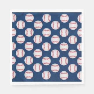 Baseballs & American Flag Disposable Napkin