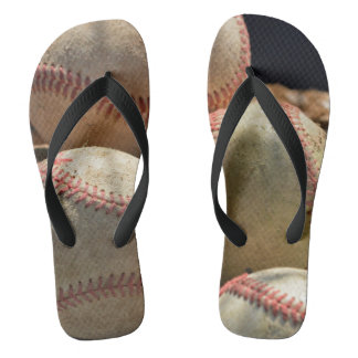 Baseballs and Glove Flip Flops