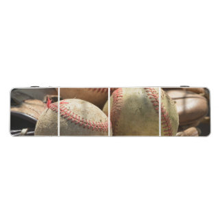 Baseballs and Glove Pong Table