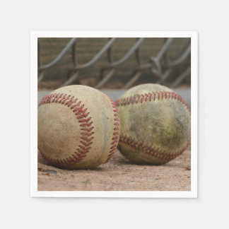 Baseballs Disposable Napkins