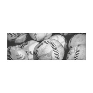 Baseballs in Black and White Canvas Print