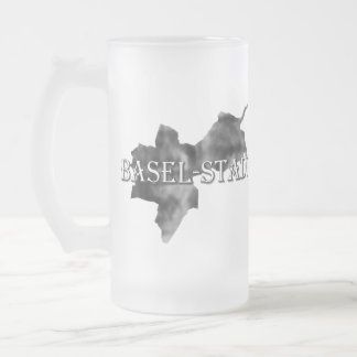 Basel-City Frosted Glass Beer Mug