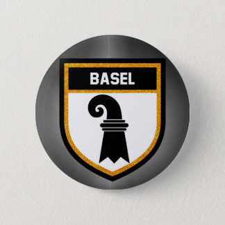 Basel  Flag 2 Inch Round Button