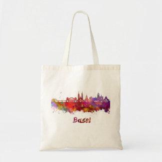 Basel skyline in watercolor