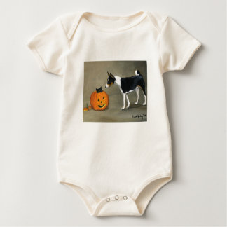 """Basenji and Pumpkin"" infant Onsie/Creeper Baby Bodysuit"