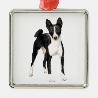 Basenji (B) - black and white Metal Ornament