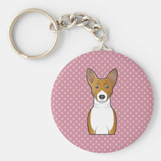Basenji Cartoon Keychain