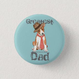 Basenji Dad 1 Inch Round Button