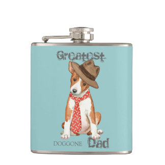 Basenji Dad Hip Flask