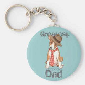 Basenji Dad Keychain