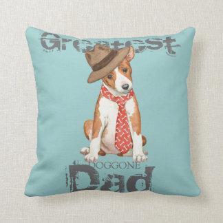 Basenji Dad Throw Pillow