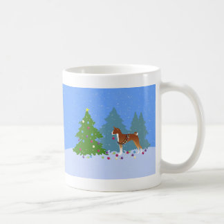 Basenji Decorating Tree in the Forest Coffee Mug