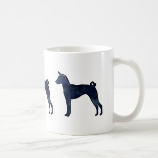 Basenji Dog Black Watercolor Silhouette Coffee Mug