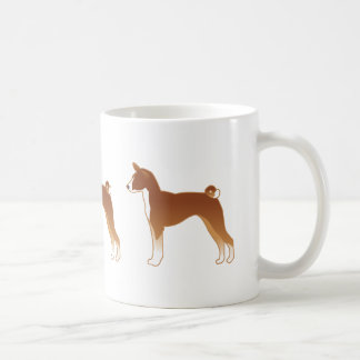 Basenji Dog Breed Illustration Silhouette Coffee Mug