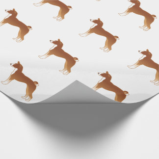 Basenji Dog Breed Illustration Silhouette Wrapping Paper