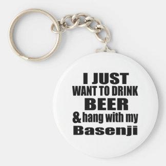 Basenji Dog Designs Basic Round Button Keychain