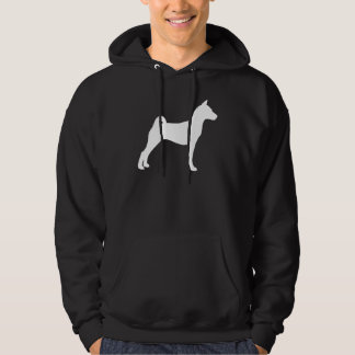 Basenji Dog (in white) Hoodie