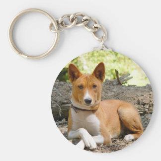 Basenji Dog Keychain