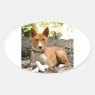 Basenji Dog Oval Sticker