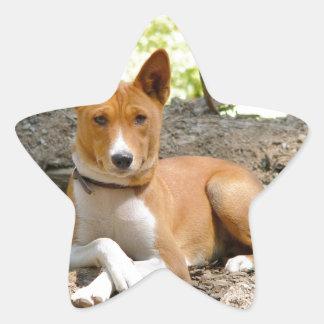 Basenji Dog Star Sticker