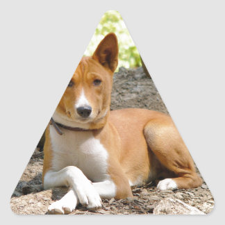 Basenji Dog Triangle Sticker