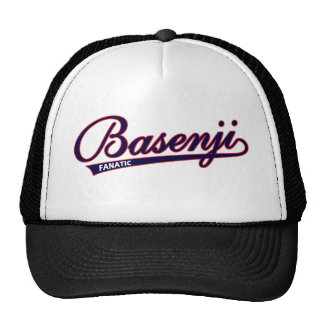 Basenji fanatic script hat