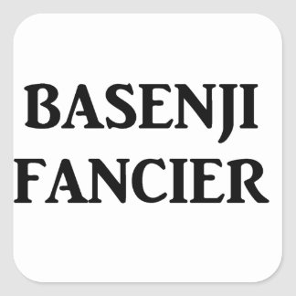 basenji fancier square sticker