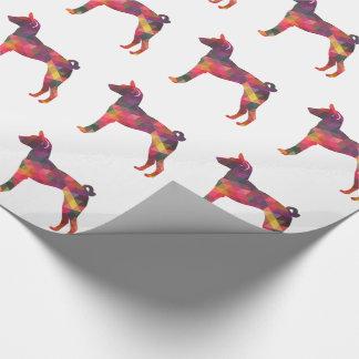 Basenji Geometric Pattern Silhouette Multi Wrapping Paper