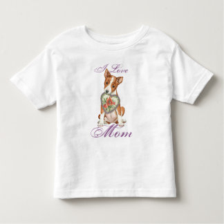 Basenji Heart Mom Toddler T-shirt