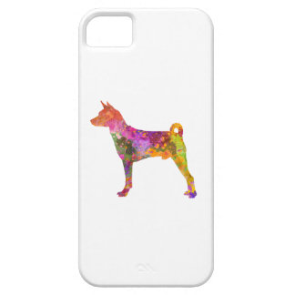 Basenji in watercolor 2 iPhone 5 covers