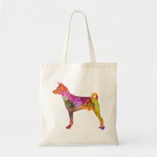 Basenji in watercolor 2 tote bag
