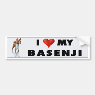 Basenji Love BAS1 Bumper Sticker